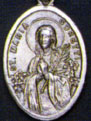 Religious Saint Holy Medal : Silver Colored: St. Goretti OX Saint Medal