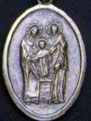Religious Saint Holy Medal : Silver Colored: Holy Family OX Saint Medal