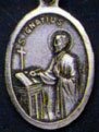 Religious Saint Holy Medal : Silver Colored: St. Ignatius OX Saint Medal
