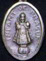 Religious Saint Holy Medal : Silver Colored: Infant of Prague OX Medal