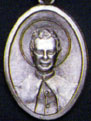Religious Saint Holy Medal : Silver Colored: St. John Bosco OX Saint Medal