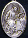 Religious Saint Holy Medal : Silver Colored: St. John of God OX Saint Medal
