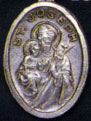 Religious Saint Holy Medal : Silver Colored: St. Joseph OX Saint Medal