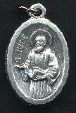 Religious Saint Holy Medal : Silver Colored: St. Jude OX Saint Medal