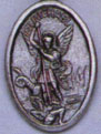 Religious Saint Holy Medal : Silver Colored: St. Michael OX Saint Medal