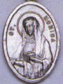 Religious Saint Holy Medal : Silver Colored: St. Monica OX Saint Medal