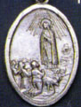 Religious Saint Holy Medal : Silver Colored: Our Lady of Fatima OX Medal