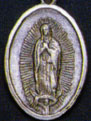 Religious Saint Holy Medal : Silver Colored: Our Lady of Guadalupe OX Medal