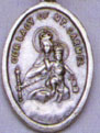 Religious Saint Holy Medal : Silver Colored: Our Lady of Mt. Carmel OX Mdl