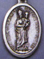 Religious Saint Holy Medal : Silver Colored: Our Lady of Czestochowa OX Mdl