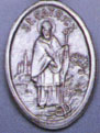 Religious Saint Holy Medal : Silver Colored: St. Patrick OX Saint Medal