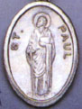 Religious Saint Holy Medal : Silver Colored: St. Paul OX Saint Medal