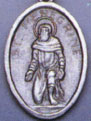 Religious Saint Holy Medal : Silver Colored: St. Peregrine OX Saint Medal