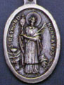 Religious Saint Holy Medal : Silver Colored: St. Raymond OX Saint Medal