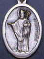 Religious Saint Holy Medal : Silver Colored: St. Richard OX* Saint Medal