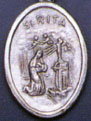 Religious Saint Holy Medal : Silver Colored: St. Rita OX Saint Medal