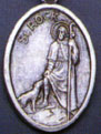 Religious Saint Holy Medal : Silver Colored: St. Rock OX* Saint Medal