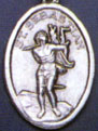 Religious Saint Holy Medal : Silver Colored: St. Sebastian OX Saint Medal