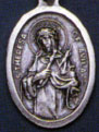 Religious Saint Holy Medal : Silver Colored: St. Theresa of Avila OX Medal