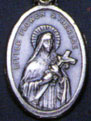 Religious Saint Holy Medal : Silver Colored: St. Theresa of Little Flower O