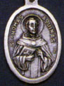 Religious Saint Holy Medal : Silver Colored: St. Thomas Aquinas OX Medal