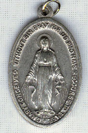 Religious Saint Holy Medal : All Materials: Large Miraculous OX Medal