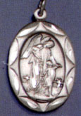 Religious Saint Holy Medal : Sterling Silver: Guardian Angel SS Saint Medal