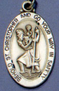 Religious Saint Holy Medal : All Materials: St. Christopher SS Saint Medal
