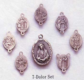 Religious Saint Holy Medal : All Materials: Seven Dolors 8-pc Set OX