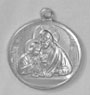 Religious Saint Holy Medal : All Materials: Blessed Sacrament Aluminum