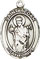 Religious Saint Holy Medal : Sterling Silver: St. Aedan of Ferns SS Medal