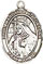 Religious Saint Holy Medal : Sterling Silver: St. Margaret of Cortona SS Mdl