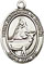 Religious Saint Holy Medal : Sterling Silver: St. Catherine of Sweden SS Mdl
