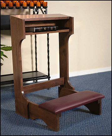 Stationary Prayer Kneeler - Walnut