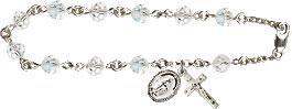 Rosary Bracelets: Crystal Rosary Bracelet