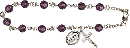 Pre-made Rosary Bracelets: Rosary Bracelet - Amethyst