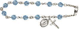 Pre-made Rosary Bracelets: Rosary Bracelet - Aqua