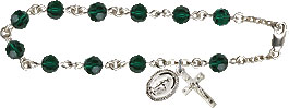 Rosary Bracelets: Rosary Bracelet - Emerald