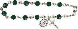 Pre-made Rosary Bracelets: Rosary Bracelet - Emerald