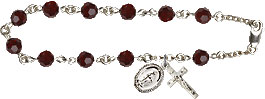 Rosary Bracelets: Rosary Bracelet - Garnet