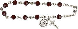 Pre-made Rosary Bracelets: Rosary Bracelet - Garnet