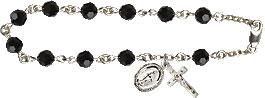 Pre-made Rosary Bracelets: Rosary Bracelet - Jet