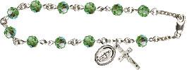Pre-made Rosary Bracelets: Rosary Bracelet - Peridot