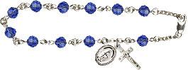 Pre-made Rosary Bracelets: Rosary Bracelet - Sapphire