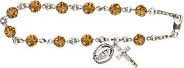 Pre-made Rosary Bracelets: Rosary Bracelet - Topaz