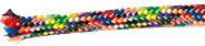 Cord for Knotted Rosaries: Knotted Rosary Cord Rainbow
