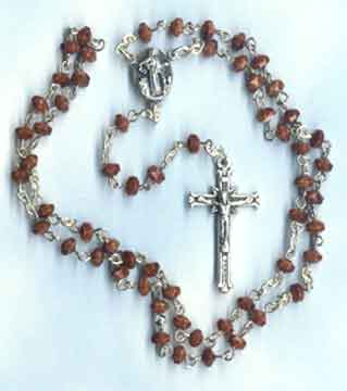 Finished Rosary Beads: Button Rosary