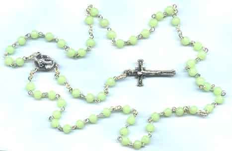 Finished Rosary Beads: Glow-in-the-dark Rosary