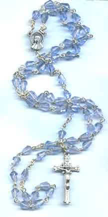 Pre-made Rosaries and Chaplets: Blue Tear Rosary