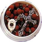 Finished Rosary Beads: Rosary Crushed Rose Petal Bead